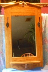 Vintage Oak Hall Mirror in Livingston, Texas