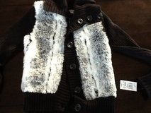 Faux fur sweater Size L  ~ new with tag in Joliet, Illinois