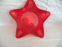 Red Plastic Star Dish in Kingwood, Texas