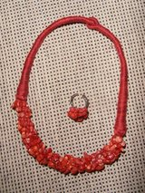 Red Coral Necklace and Ring in Stuttgart, GE