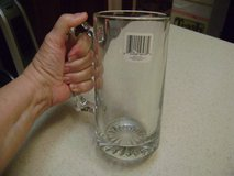 Heavy Glass Beer Stein - New w/Tag in Kingwood, Texas