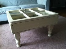 pallet wood window pane coffee table shelf in Camp Lejeune, North Carolina