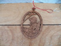 Woodcut Lamb Ornament in Houston, Texas
